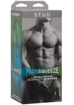 Man Squeeze Stud UltraSkyn Stroker Realistic Anus Vanilla 8 Inches