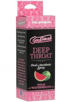 GoodHead Deep Throat Oral Anesthetic Spray Wild Watermelon 2 Ounce
