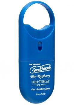 Goodhead Deep Throat To Go Oral Anesthetic Spray Blue Raspberry .33 Ounce