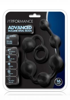Performance Advanced Anal Beads 16in Silicone - Black