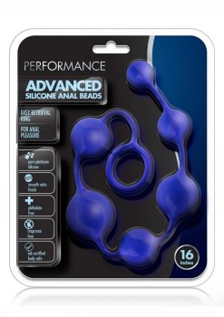 Performance Advanced Anal Beads 16in Silicone - Blue