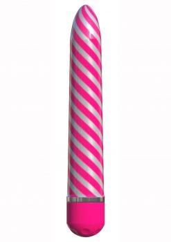 Sweet Swirl Vibrator Pink 8 inch Multi Speed Waterproof