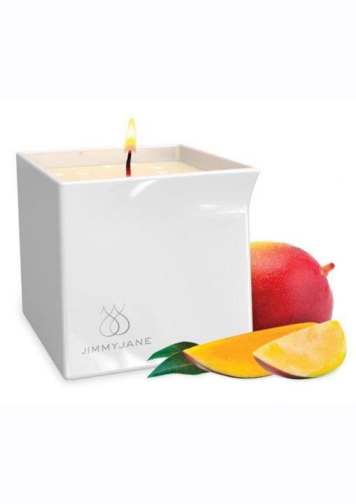 JimmyJane Afterglow Natural Massage Oil Candle Mystic Mango 4.5 Ounces