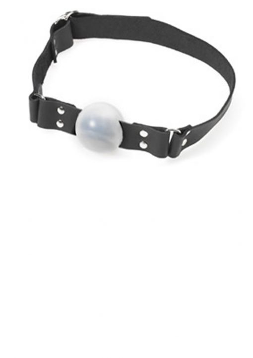 Plastic Ball Gag With D Ring White