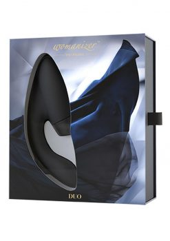 Womanizer Duo Clitoral And G-Spot Stimulator Silicone USB Rechargeable Waterproof Black