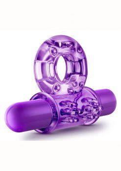 Play With Me Couples Play Cock Ring Vibrating - Purple