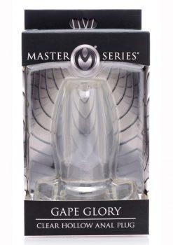 Master Series Gape Glory Clear Hollow Anal Plug 3.9 Inch