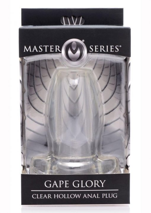 Master Series Gape Glory Clear Hollow Anal Plug 3.9 Inch
