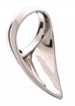 Rouge Stainless Steel Play Tear Drop Cockring 45 Millimeters
