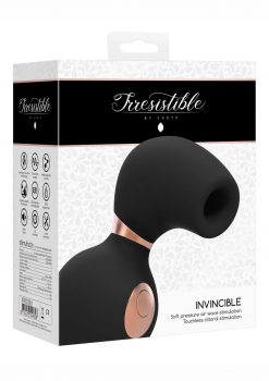 Irresistible Invincible Soft Pressure Air Wave Touchless Clitoral Stimulation Silicone USB Magnetic Charge Vibrator Waterproof Black