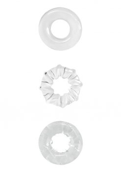 Renegade Dyno Rings Clear Cock Ring Set Non-Vibrating