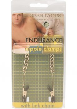 Endurance Teaser Tip Nipple Clamps With Link Chain Silver
