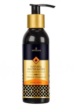 Sensuva Natural Water Based Personal Moisturizer Orange Creamsicle Flavored Lubricant 4.23oz