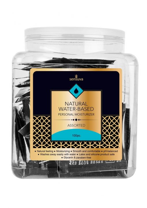 Sensuva Natural Water Based Personal Moisturizer Assorted Flavored Lubricant 100 Per Bowl