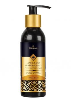 Sensuva Ultra Thick Water Based Personal Moisturizer Salted Caramel Flavored Lubricant 4.23oz