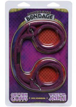 Japanese Style Cotton Cuffs Purple