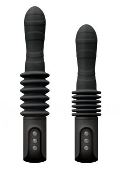 Renegade Deep Stroker Rechargeable Thrusting Vibrating Wand - Black