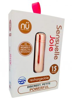 Joie 15 Function USB Rechargeable Bullet Waterproof Rose Gold 2.5 Inch