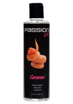 Passion Licks Water Based Flavored Lubricant Caramel  8oz