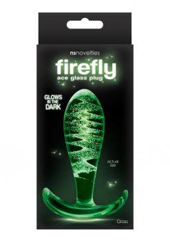 Firefly Ace I Glass Plug Glow In The Dark - Clear