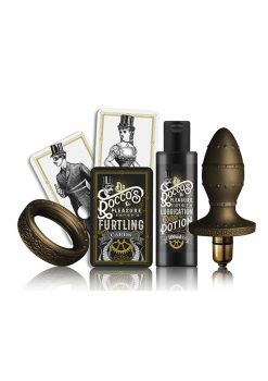 Dr Rocco  Pleasure Emporium Kit and Kaboodle Cockring Anal Plug Multi Speed Bullet Waterproof