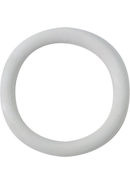 Rubber Cock Ring 1.25 Inch White