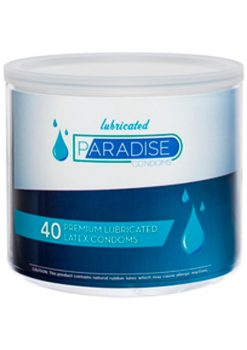 Paradise Lubricated Condoms 40/bowl