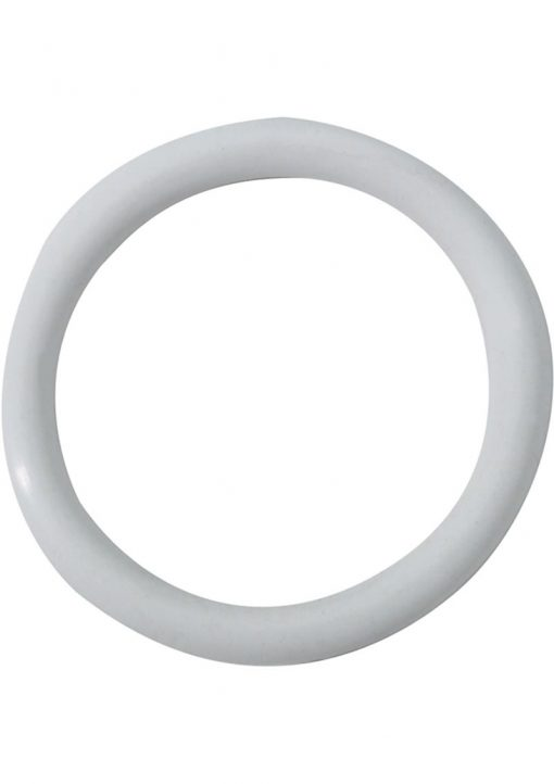 Rubber Cock Ring 1.5 Inch White