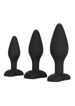 Silicone Anal Exerciser Kit Anal Plugs Waterproof Black
