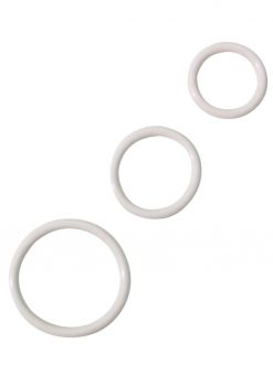 Rubber Cock Ring Set White