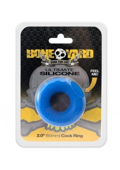 Bone Yard Ultimate Silicone Ring Blue