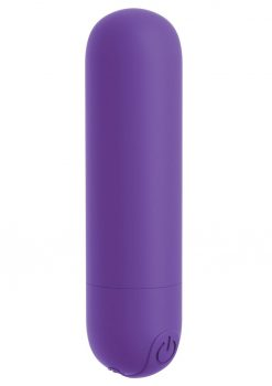 OMG Bullet Play Rechargeable Multi Speed Silicone Vibrating Bullet Waterproof Purple