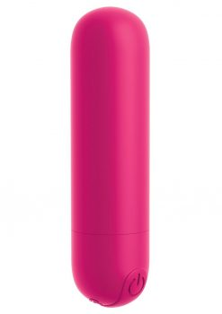 OMG Bullet Play Rechargeable Multi Speed Silicone Vibrating Bullet Waterproof Red
