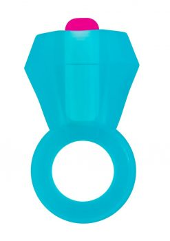 Rock Candy Vibrating Bling Pop Cock Ring Blue