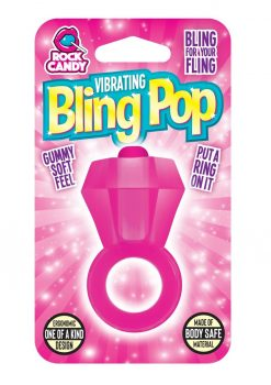 Rock Candy Vibrating Bling Pop Cock Ring Pink