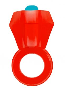 Rock Candy Vibrating Bling Pop Cock Ring Red