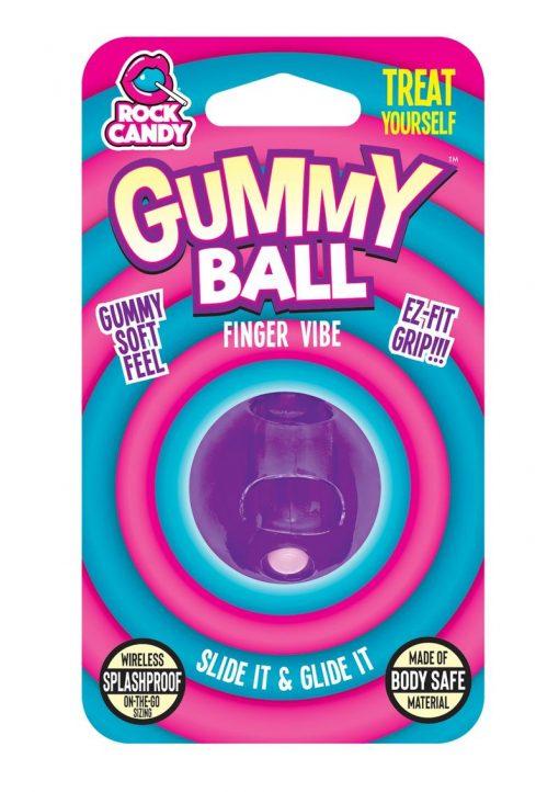 Rock Candy Gummy Ball Finger Vibe Splashproof  Purple