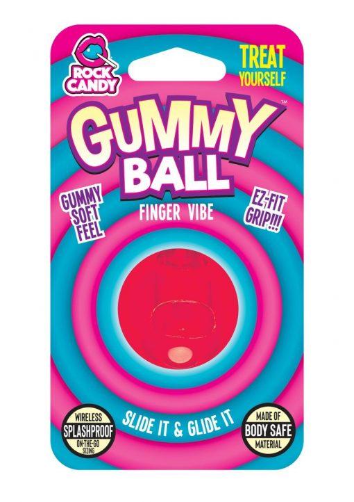 Rock Candy Gummy Ball Finger Vibe Splashproof  Red