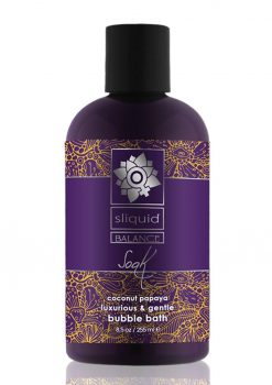 Sliquid Balance Soak Coconut Papaya Luxurious and Gentle Bubble Bath 8.5oz.