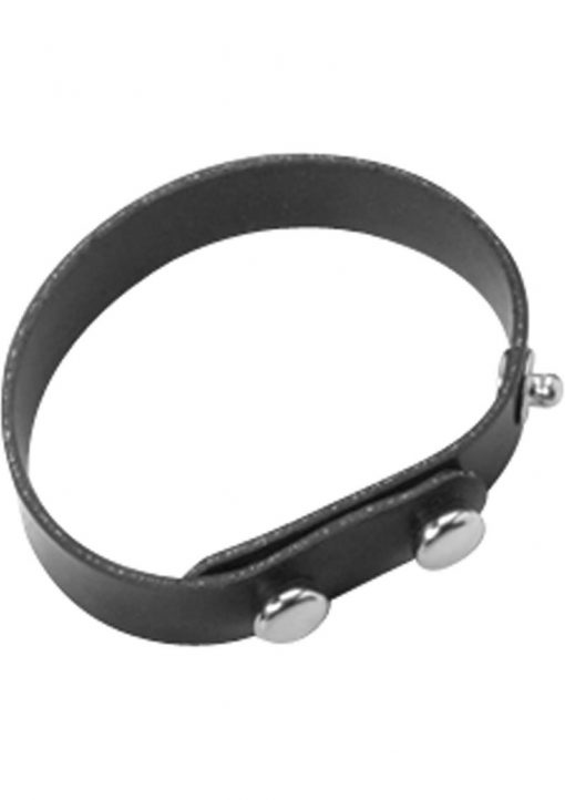 Rubberline Neoprene Cock Ring Black