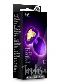 Temptasia Bling Silicone Anal Plug Small Purple 3 Inch