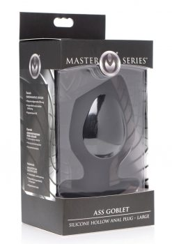 Master Series Ass Goblet Silicone Hollow Anal Plug Large