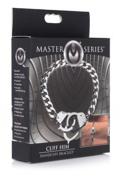 Master Series Cuff Him Handcuff Bracelet Nickel Free