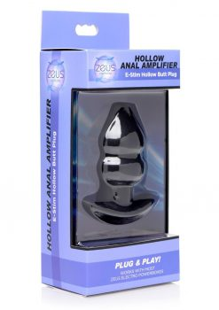 Zeus Hollow Anal Amplifier E-Stim Hollow Butt Plug Silicone