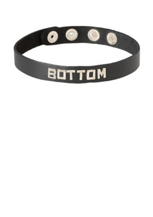 Wordband Collar Bottom Black