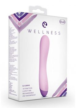 Wellness G Curve G-Spot Vibrator Multi Function Rechargeable Waterproof  Pink