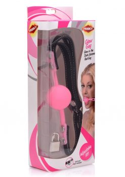 Frisky Glow Gag Glow in the Dark Silicone Ball Gag