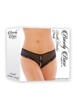 Barely Bare Double Window Panty Black One Size
