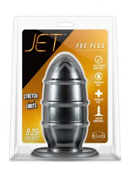 Jet Fuc Plug 8.25 Inches Anal Plug Black