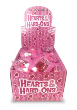 Candy Prints Hearts and Hard-Ons Naughty Confections 100 Bags Per Counter Display